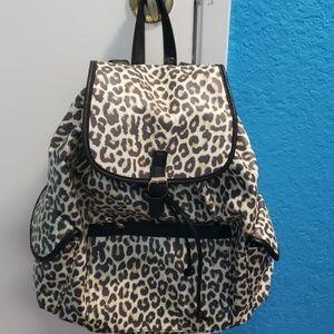 NWT large leopard print backpack